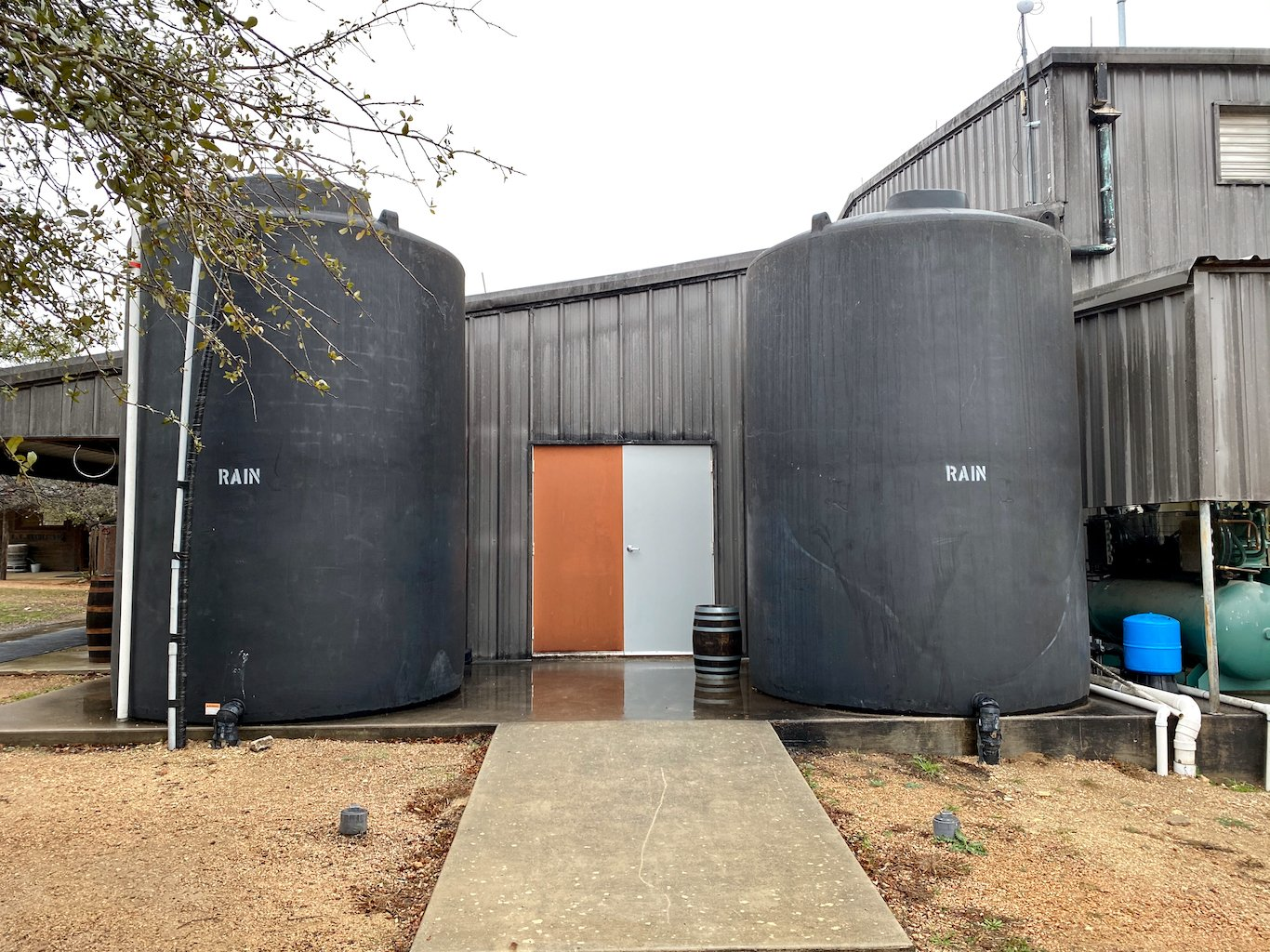 Rainwater Storage - Garrison Brothers Distillery