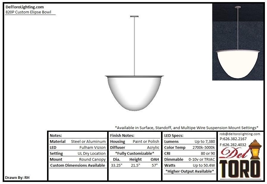 820P - Custom Elipse Bowl Pendant