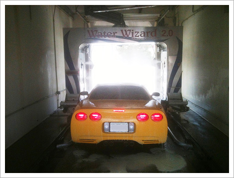 Car in water wizard place||||