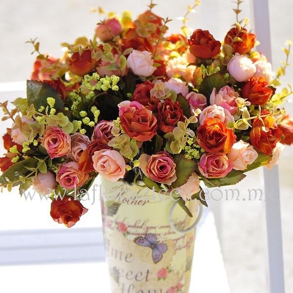 MD - 128  $1,080 Hermoso diseño de variedad de rosas estilo shabby chic