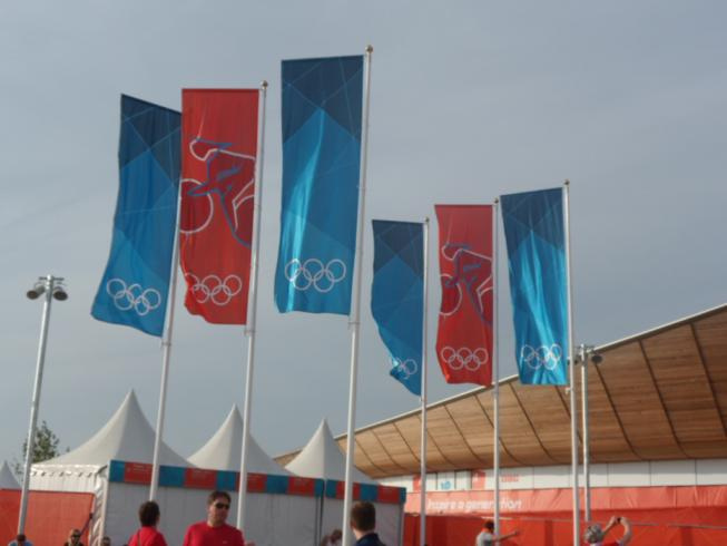 Olympic Bunting - Olympic Park Stratford