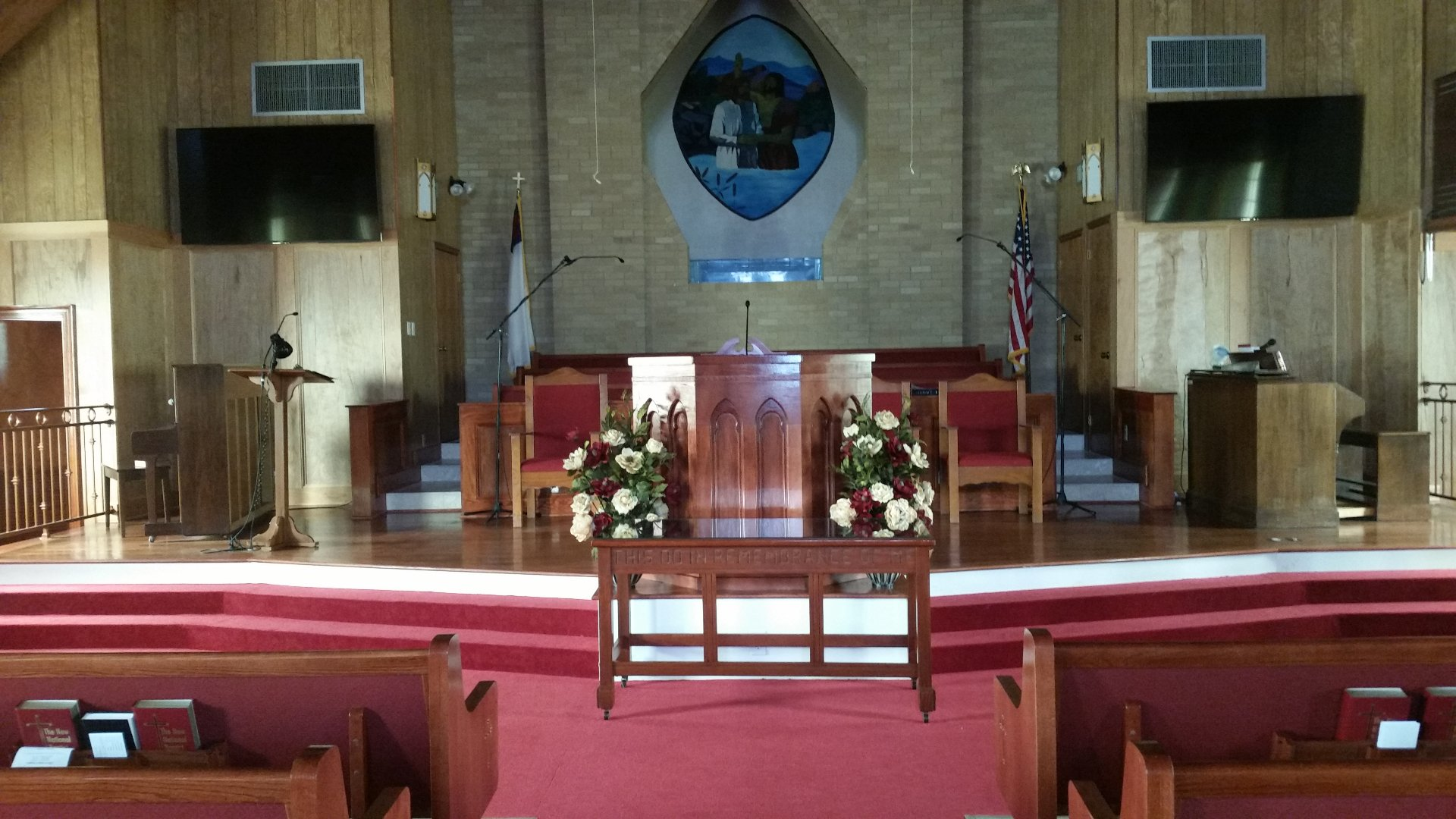 Installation of various sanctuary displays using Atlona Controls at Shady Grove Missionary Baptist Church