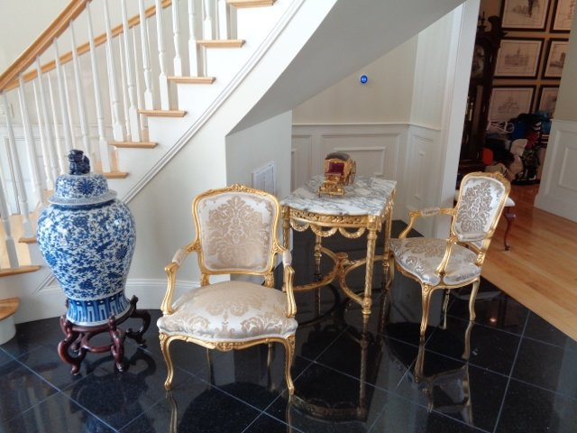 Gilded Louis XIV armchairs