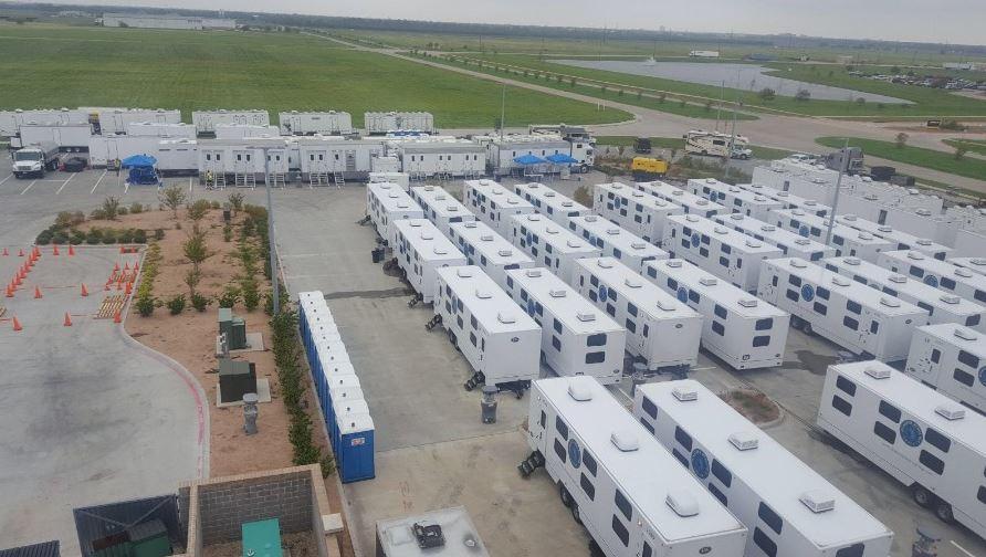 Aerial Shot of Evacuation Center