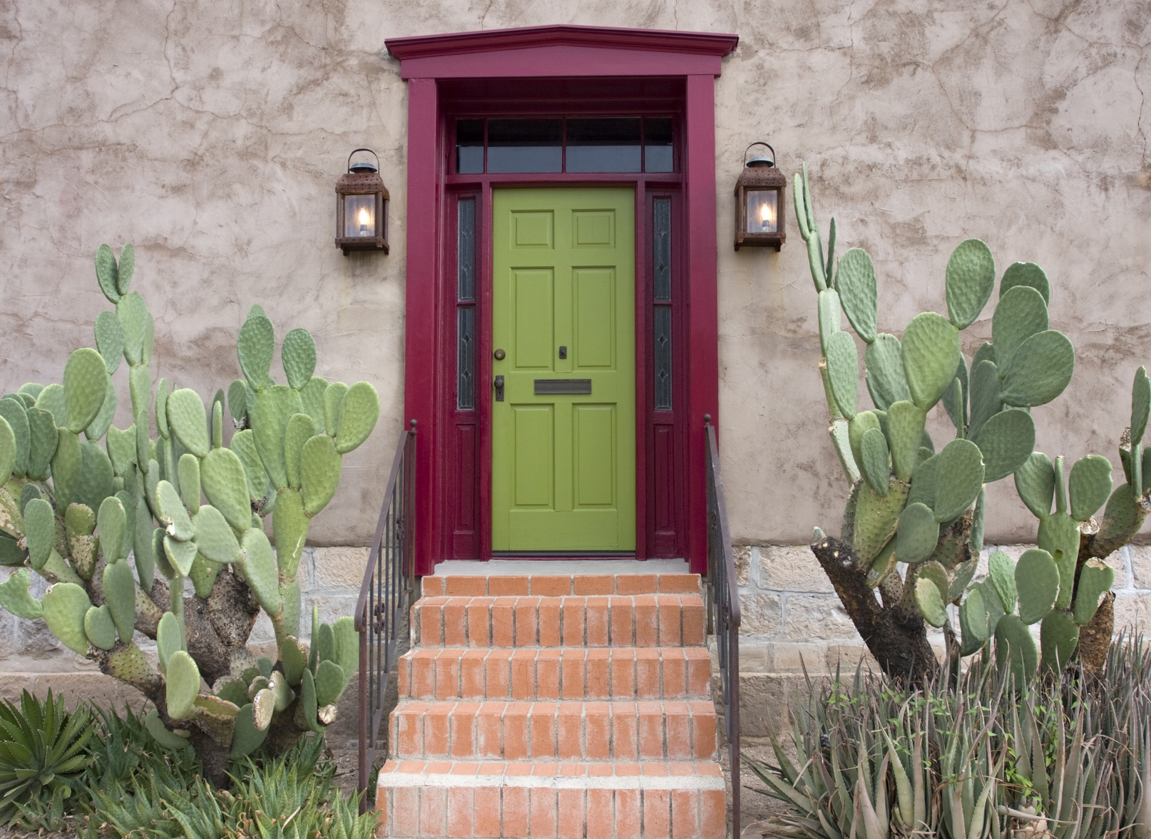 Colorful townhouse door in Ahwatukee AZ