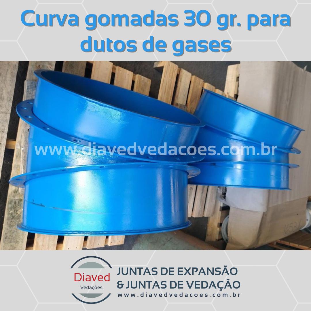 Curva gomadas 30 gr. para dutos de gases