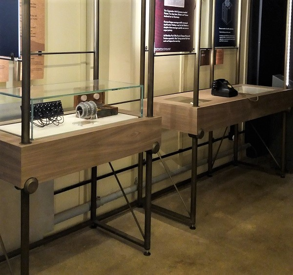 Specialist metal coating in bronze on exhibition stands. Artistic Metals
