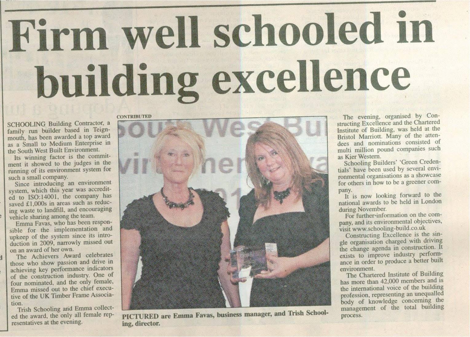 Award Winning. Training Award, Best SW SME, Fundraising, community involvement