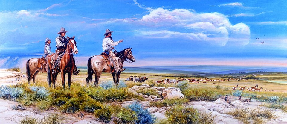 """ Buffalo Springs Division --XIT Ranch "" Edition 50 S/N AP US $125 Image size 10 1/2 "" X 24"""