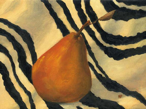 """Wild Pear  6""""x8"""" Oil on Stretched Canvas SOLD"""