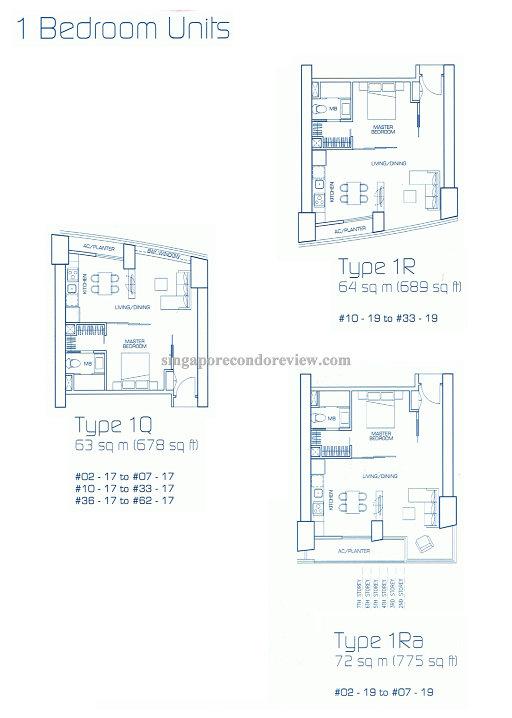 floor plan for stack 19, floors 2-33 689-775 sqft