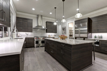 Contemporary Kitchen Remodel with Quartz Counter Tops and Modern Cabinetry