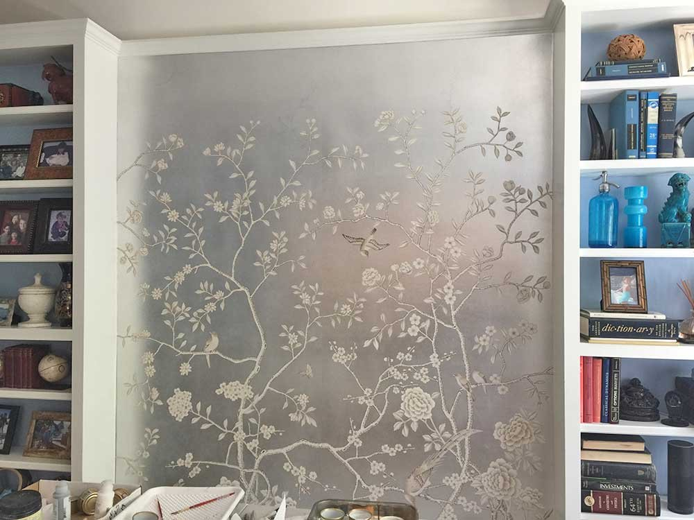 De Gournay Wallpaper Before