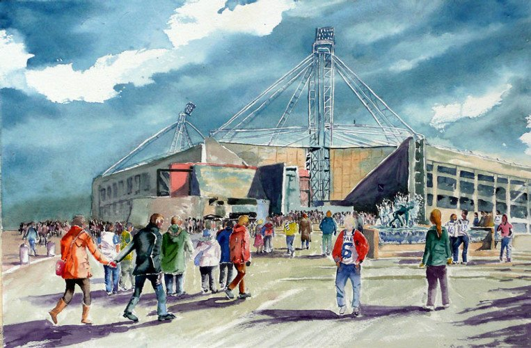 Glory Days at PNE Watercolour - SOLD