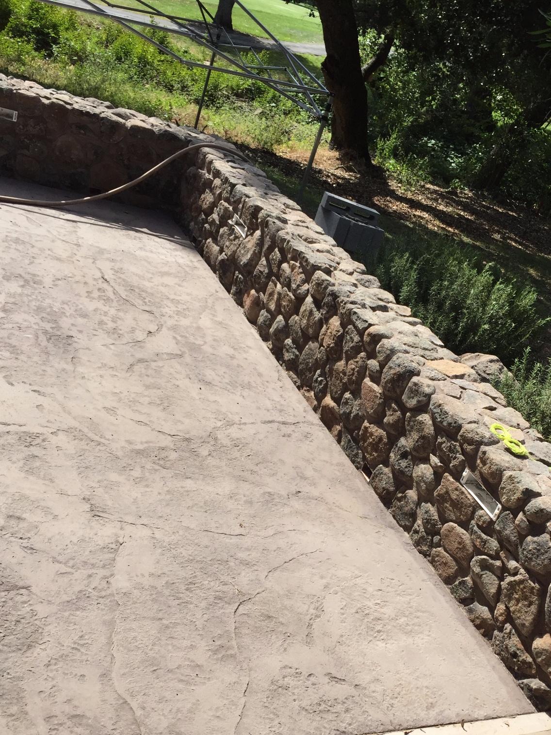Stone wall Napa, CA
