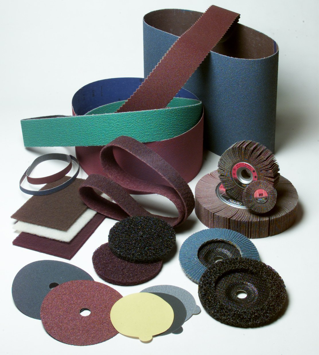 Abrasive belts, Wheels and Pads