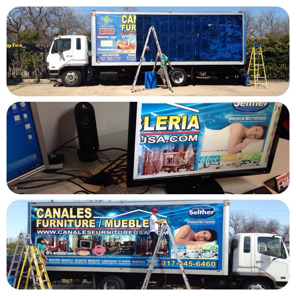 Large vehicle Wrap Installation
