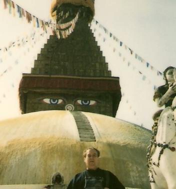 En Nepal, en la Estupa más grande del mundo
