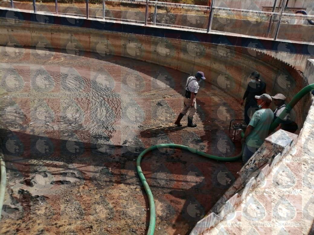 Mantenimiento al sedimentador II en planta tratadora de aguas residuales   Mes: Enero