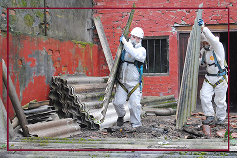 Workers Working on Asbestos Abatement