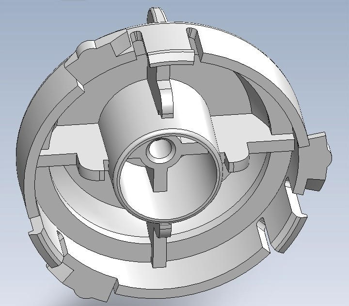 Bottom view: Female version, Selector/Guide