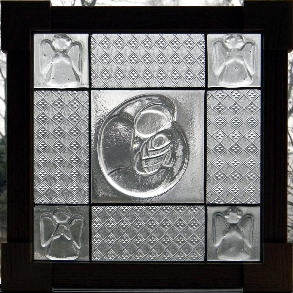 """Our Lady"" by Nataliya Guchenia Glass Size - 13""H X 13""W $300.00"