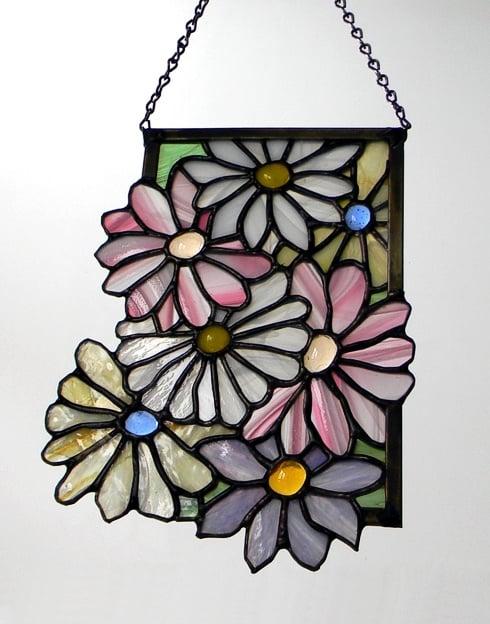 """""""Flowers"""" by Nataliya Guchenia Glass Size - 9 1/4""""H X 7""""W $15.00"""