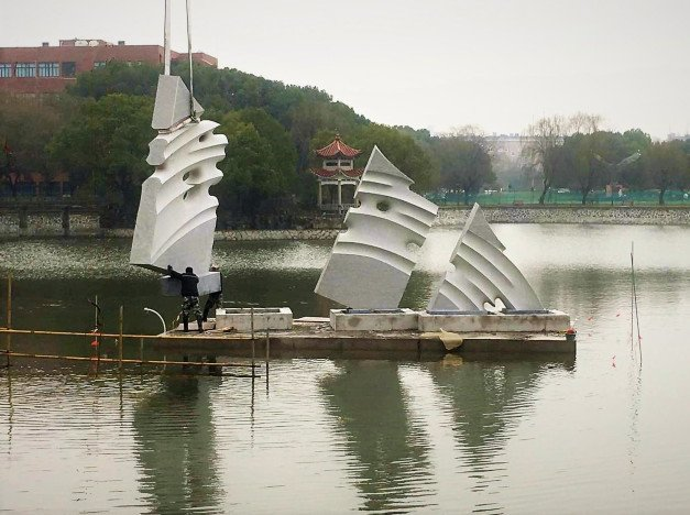 Mounting in the lake - Shanghai