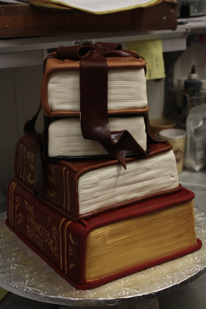 3D Book Cake Side View