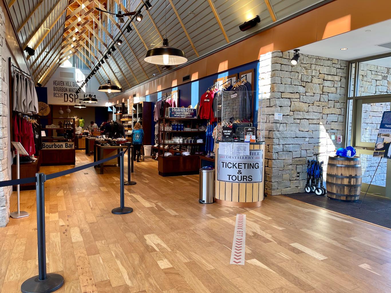 Heaven Hill Distillery Bourbon Heritage Center  Tour Check In