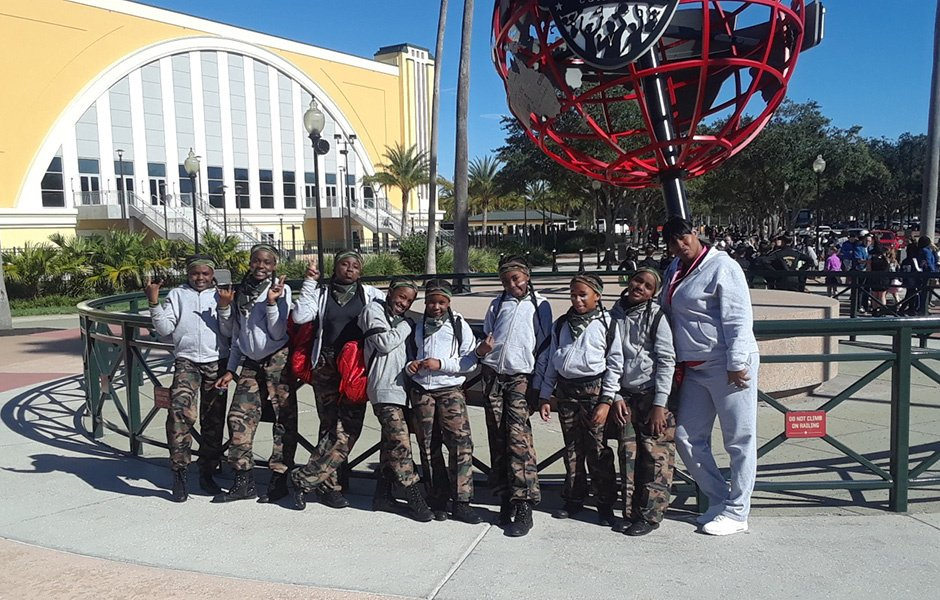 Pee Wee Dancers at Pop Warner National Dance Competition