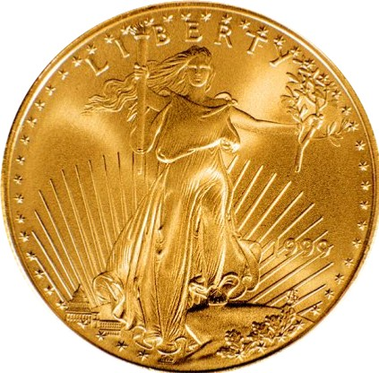Gold Lady Liberty Coin||||