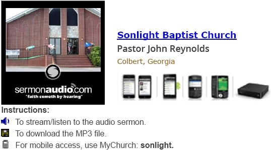 Listen to an Audio Sermon