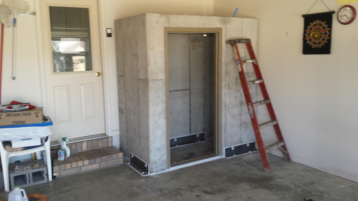 Large In-Garage Safe Room
