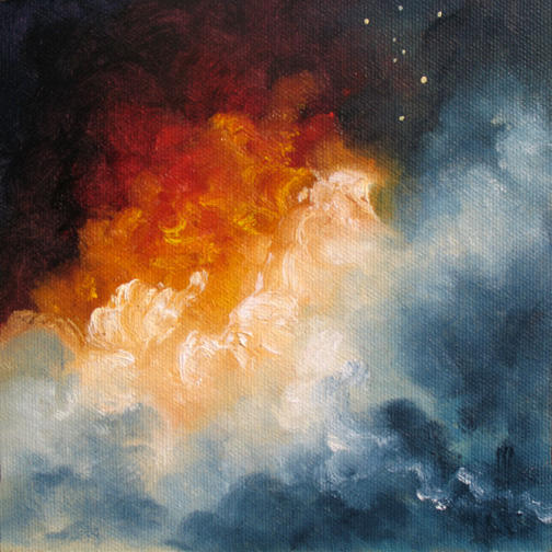 """Birth Of Angels ~ 6"""" x 6"""" Oil on Canvas Panel"""