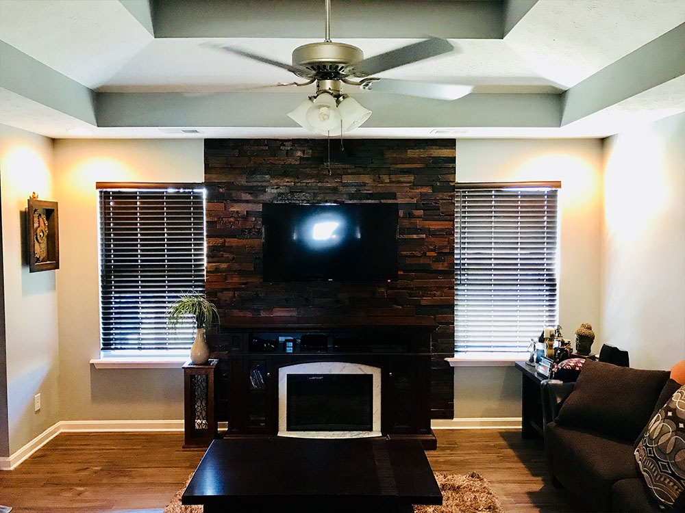 Great Room Fireplace Accent Wall (After)