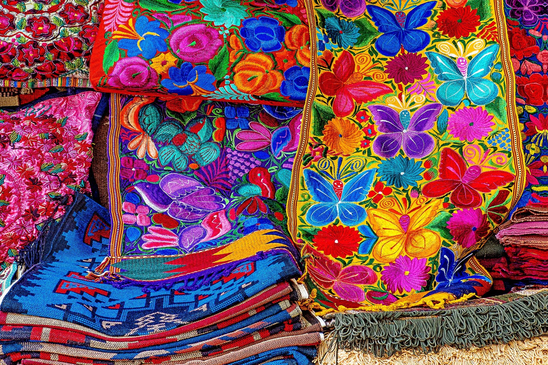 PILE OF COLOR - Santa Fe is another one of those places where photographers just can't stop pushing that button. The opportunities for wonderful photographs are endless. This shot was taken in a small street shop.