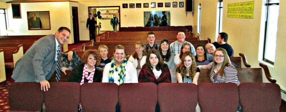 Teen Group attending Youth Rally Upper Peninsula Mi