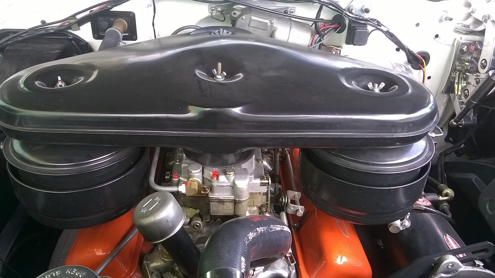 1957 Chevy Bel-Air,dual WCFD Carburetors