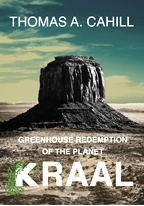 """Greenhouse Redemption of the Planet Kraal"" book cover, showing a sheer-walled mesa in a forbidding landscape"