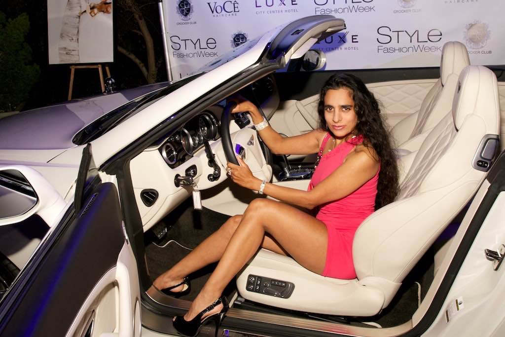 Sanjini White Car Interior