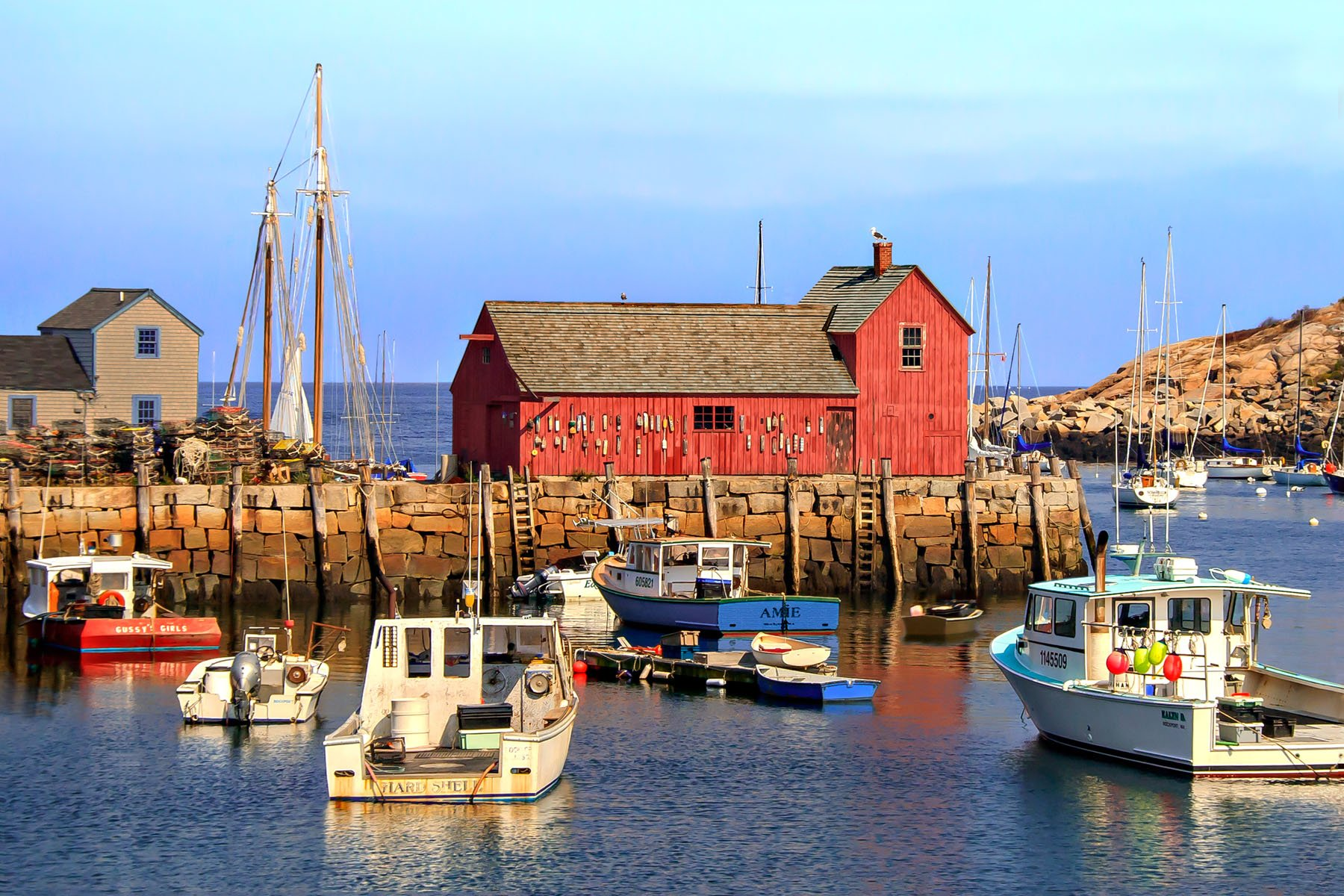 "MOTIF #1 - Rockport, MA. -  A photographer's paradise. They say this lobster shack is the most ""painted"" building in the world. That's why it is officially called ""Motif #1"". It's probably also one of the most photographed."