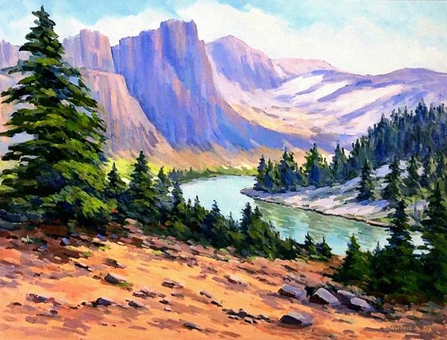 Wyoming Mountains, 20 x 24 Oil