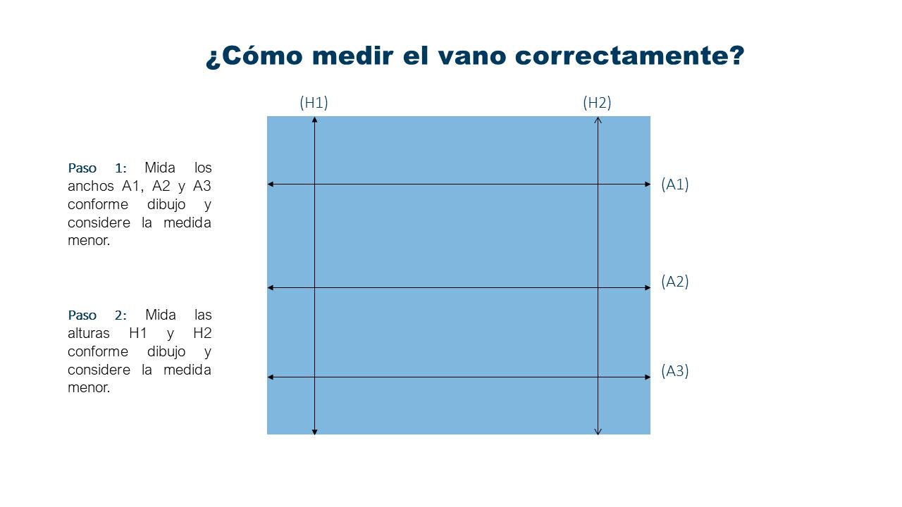 como medir ventanas pvc