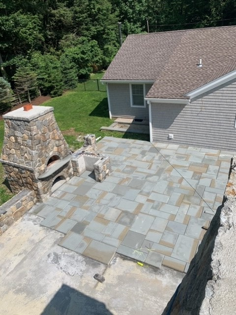 Overhead View of a Yard Project