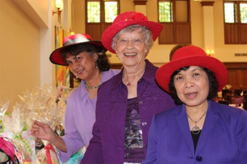 Women With Red Hat