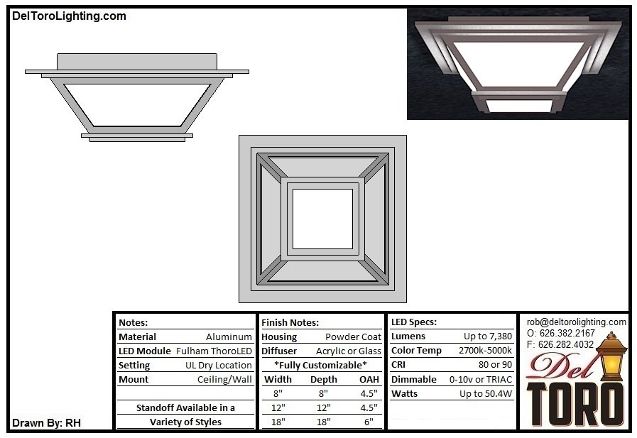 214C-Angled Box Flush Mount