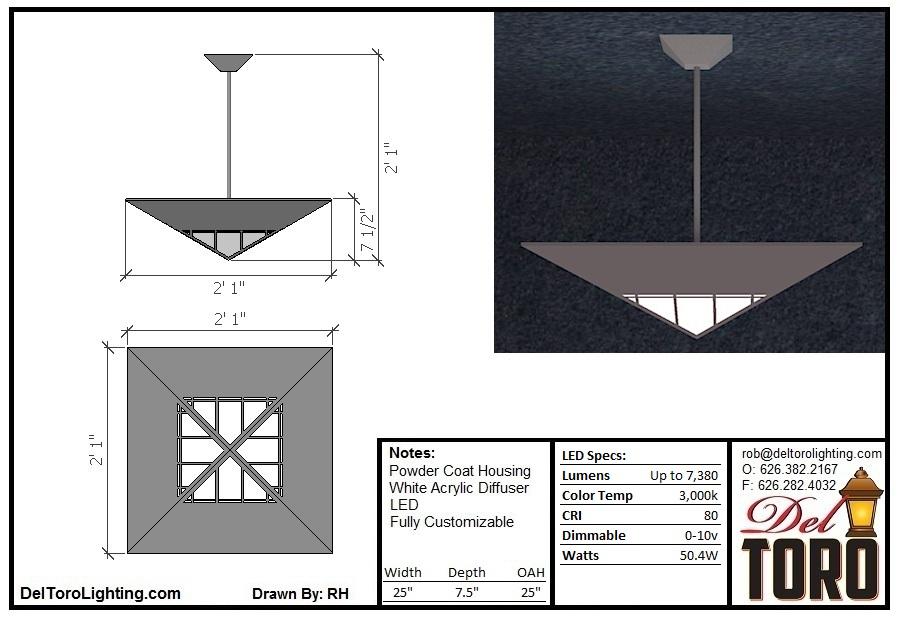910P-Framed Pyramid Pendant