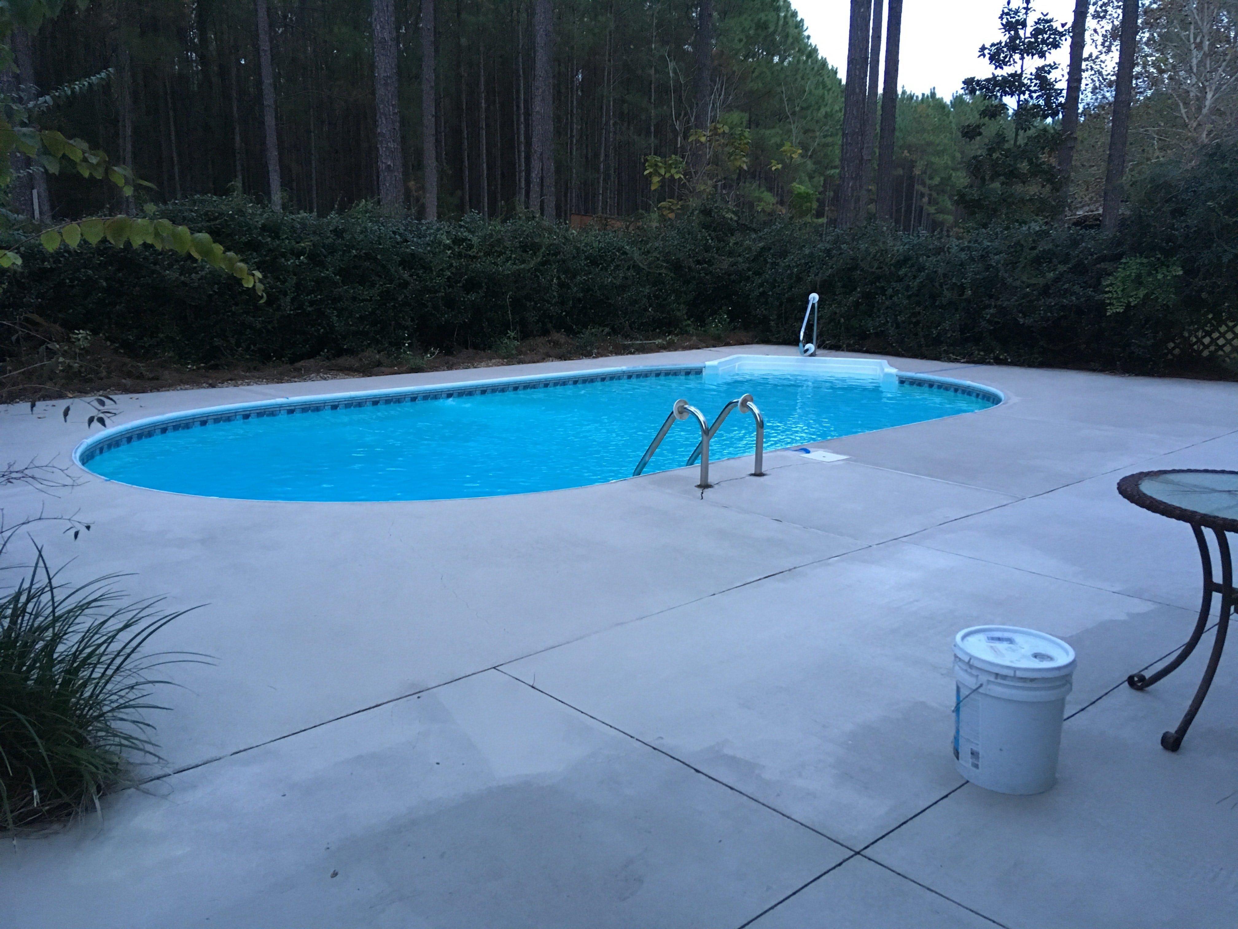 Pool Concrete Paint After