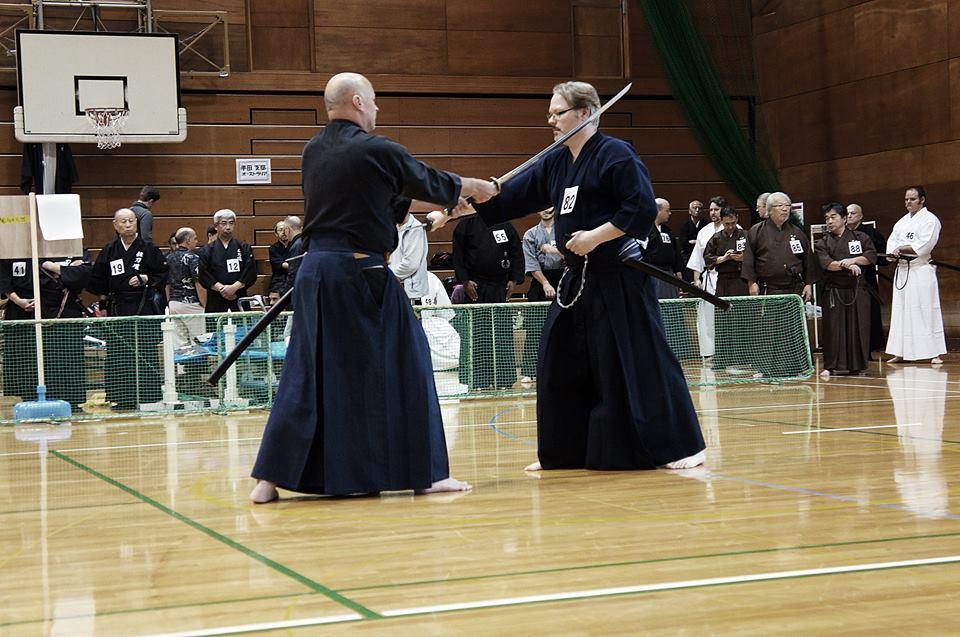 Kumitachi - Tex and John H. from Kenshinkan Dojo.